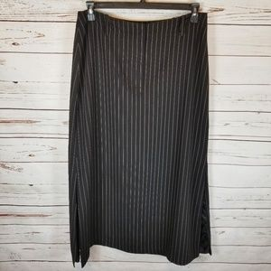 NY & CO. Long Pin Striped Career Skirt 14